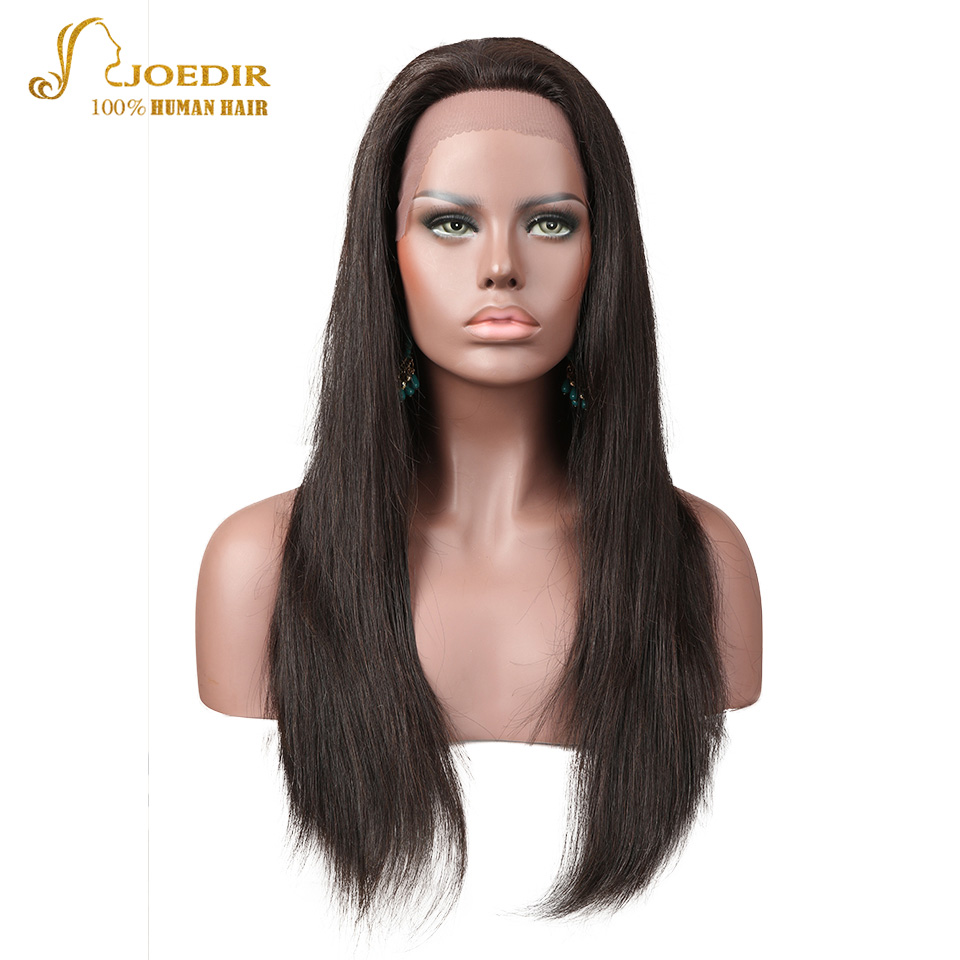 Joedir Brazilian Lace Front Human Hair Wigs Remy Human Hair Wigs For Black Women Straight Lace Frontal Wigs With Baby Hair