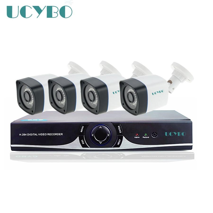 4ch cctv security ahd camera dvr system 720p hd ahd outdoor 1mp IR bullet outdoor 1200tvl camera video surveillance kit system