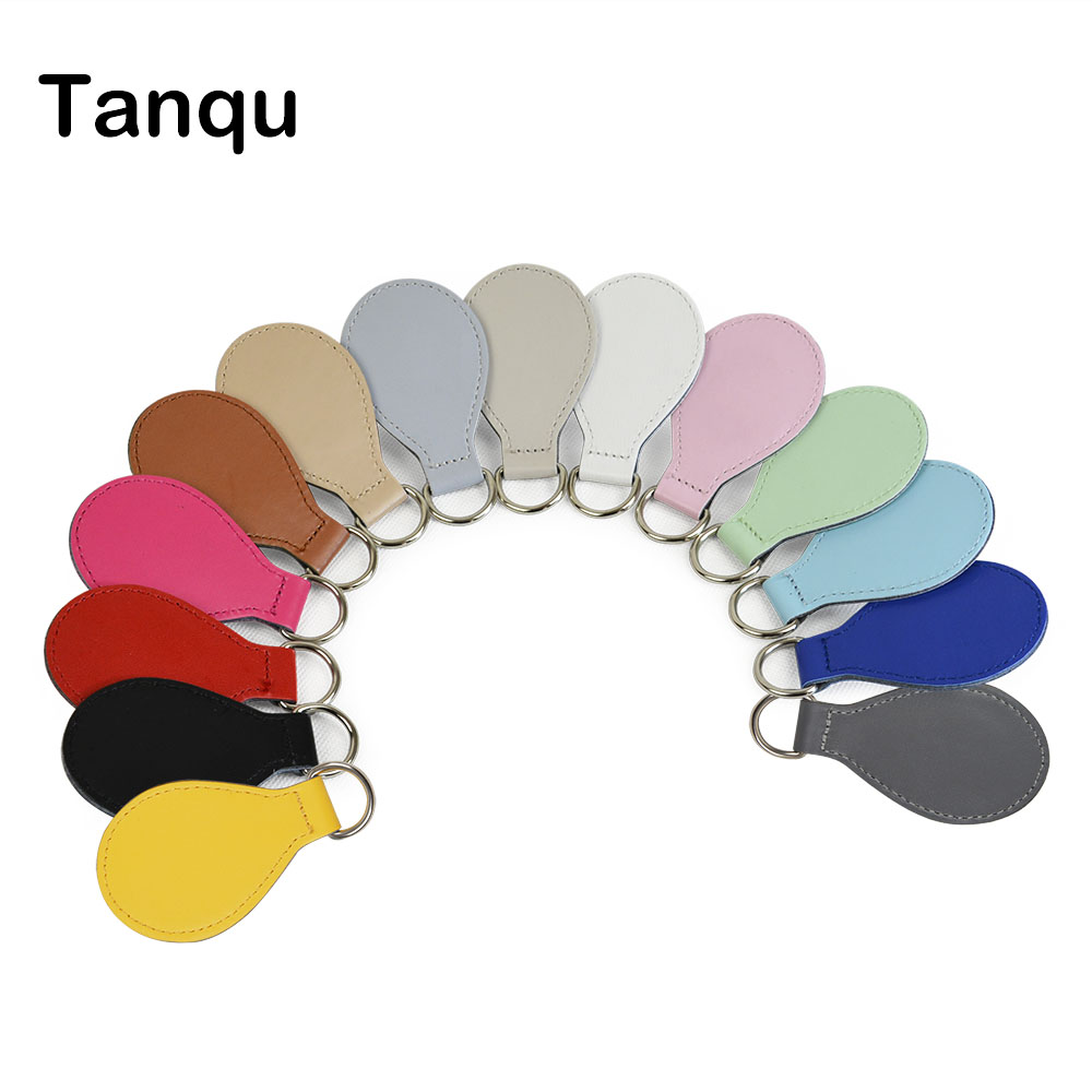 TANQU New 2 Pair 4 Pc Shiny Drop End For Obag Handle PU Drop Attachment For O Bag Obasket DIY Women Bag