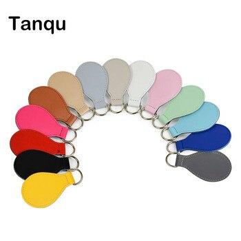 TANQU New 2 Pair 4 Pc Shiny Drop End For Obag Handle PU Drop Attachment For O Bag Obasket DIY Women Bag