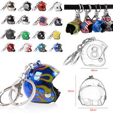 1 Pc Creative Car Motorcycle Bicycle Helmet Key Chain Ring Keychain Keyring Key Fob Pendant Xmas Christmas Women Mens Gift Toy 1pc creative helmet key chain zinc alloy motorcycle keychain men and women key ring trendy keyring for car purse bag gift
