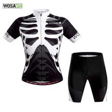 WOSAWE Männer Bike Fahrradbekleidung Set Atmungs MTB Fahrrad Radfahren Trikots Gel Pad Outdoor Sport Tragen Radfahren Kleidung H2082