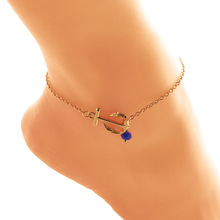 Cindiry Crystal Anchor Sandals Fashion Jewelry Women 2017 Best Lady Anklet Boho Summer Vacation Anklets Bracelet Sexy Chain P0.1
