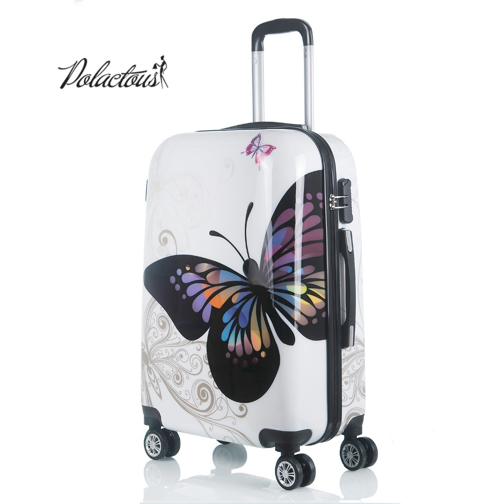 20+24+12 amazing hot sales Japan butterfly ABS trolley suitcase luggage sets/Pull Rod trunk/traveller case with spinner wheel