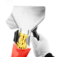 304 Stainless Steel French Fries Funnel Fast Food Restaurant Kitchen Tools Chips Scoop Packing Shovel Kitchen