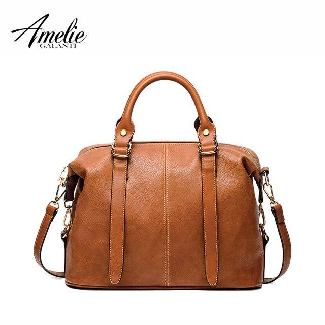 AMELIE GALANTI 2017 женщины роскошные мода Экологичный PU материал сумки известный бренд женщина женщин сумки на ремне твердые свободного покроя сумки