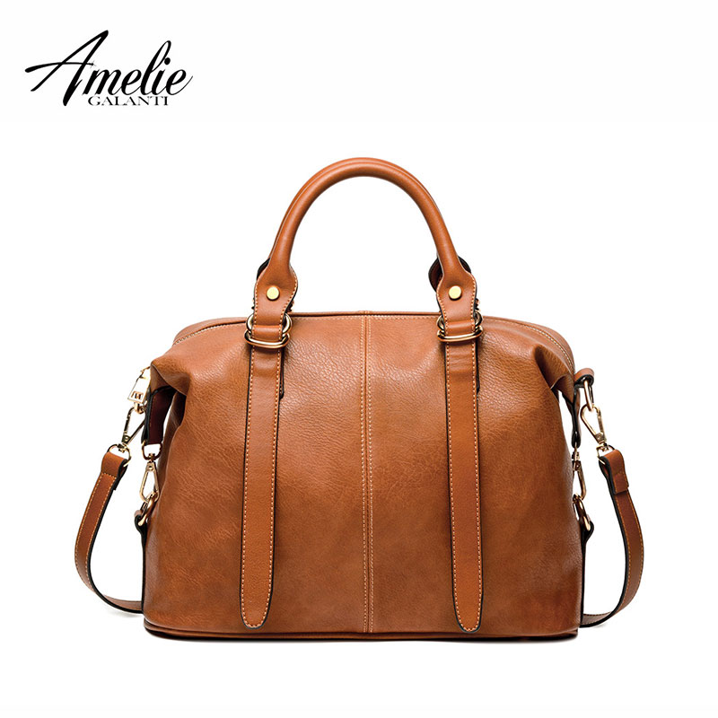 AMELIE GALANTI women luxury fashion handbags 2017 famous brand woman bags women shoulder bags solid bolsos casual totes