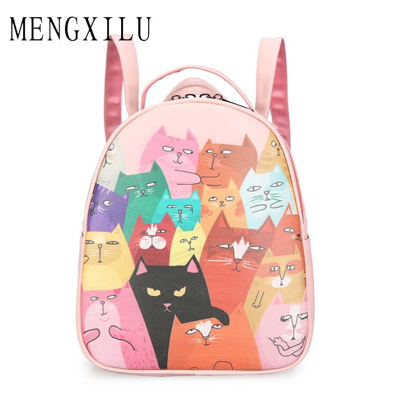 MENGXILU Fashion Backpack Womens Backpack School Student Back Pack Female Backpacks Rucksack Mochila Escolar Backpack Girls