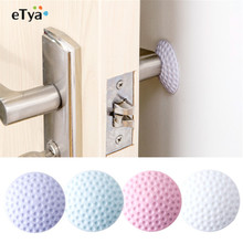 3pc Wall Thickening Mute Fenders Door Wall Stick Golf Modelling Rubber Fender Handle Door Lock Protective Pad Home Wall Stickers(China)