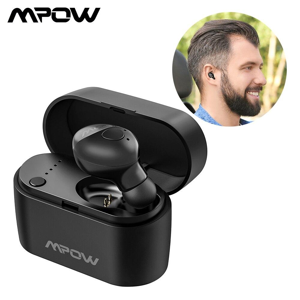 Original Mpow EM14 Bluetooth Earphone Single Wireless Earbud