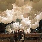White balloon sea of...