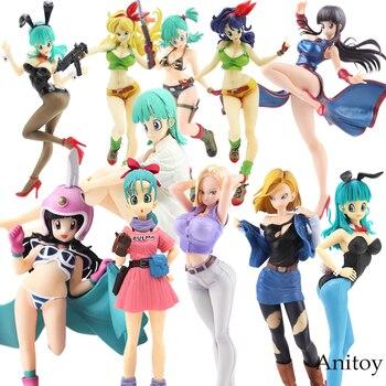 Dragonball Dragon Ball Z Bulma Lunchi Bulma Chichi Lazuli Galões Android NO.19 18 Meninas Ver. III Action Figure Coleção Modelo Brinquedos