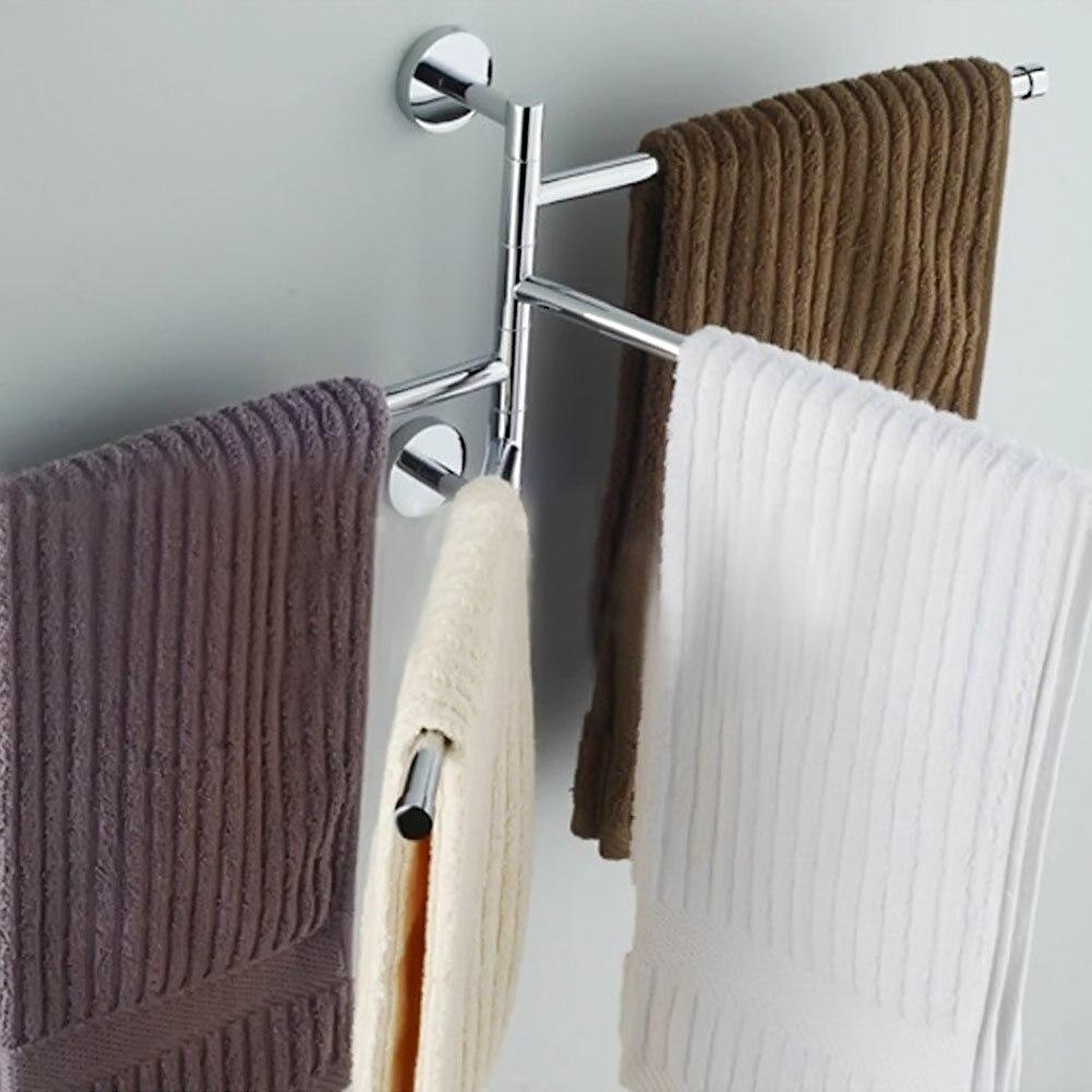 2017 4 layers stainless steel bathroom towel rack holder - Bathroom accessories towel racks ...