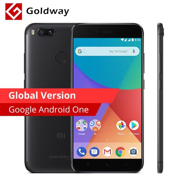 Global Version Xiaomi Mi A1 MiA1 Mobile Phone 4GB RAM 64GB ROM Snapdragon 625 Octa Core 12.0MP+12.0MP Dual Camera Android One