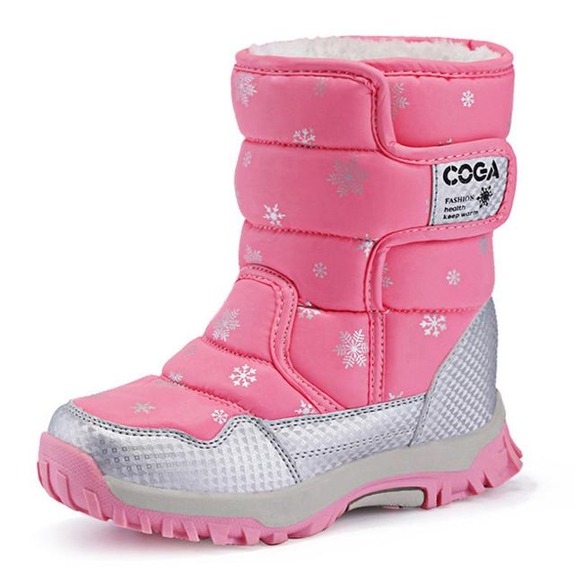Niños botas chicas botas de nieve 2016 niños del invierno zapatos de piel gruesa caliente de pelo largo zapatos de invierno niño botas de invierno para niños botas de nieve