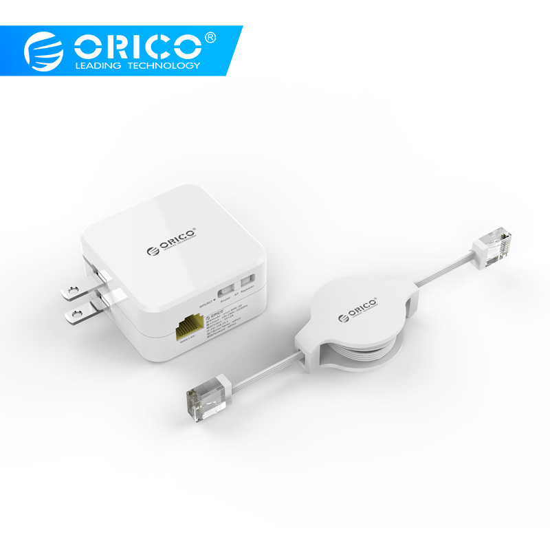 ORICO WRE-30 Universal Wireless Range Extender, WiFi Repeater with USB Charging Port and Blue Power Indicator for iphone 7/6s/6