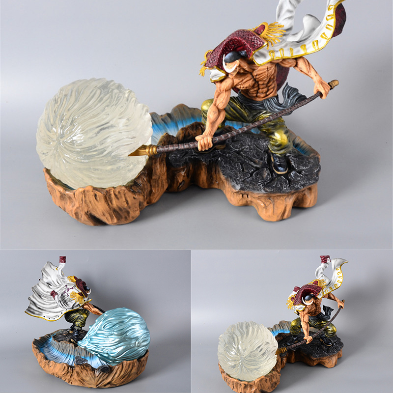 Anime One Piece GK Resin Figures Four Emperors Edward Newgate Tatue Action Figure Collection Model Toys for Doll Christmas Gift new anime one piece kaido four emperors edward newgate white beard big mom 24cm pvc action figure model doll toys in boxed