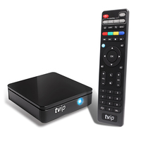 TVIP 410 412 Box Amlogic Quad Core 4 GB Android 4.4/Linux Dual OS Smart TV Box Ondersteuning H.265 Airplay DLNA Mag 250 android tv box