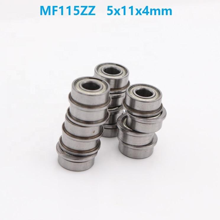 5x11x4 mm 20 PCS MF115zz Flange Metal Double Shielded Ball Bearing 5*11*4