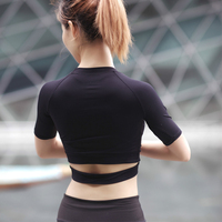 Solid Color Crop Top Apparel Cropped Tank Top Tshirt Sexy Crop Tops Woman S Clothing Brand