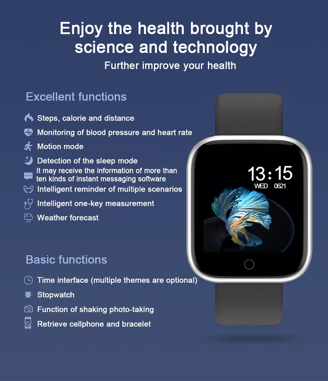 Reloj inteligente impermeable T80 Bluetooth 2
