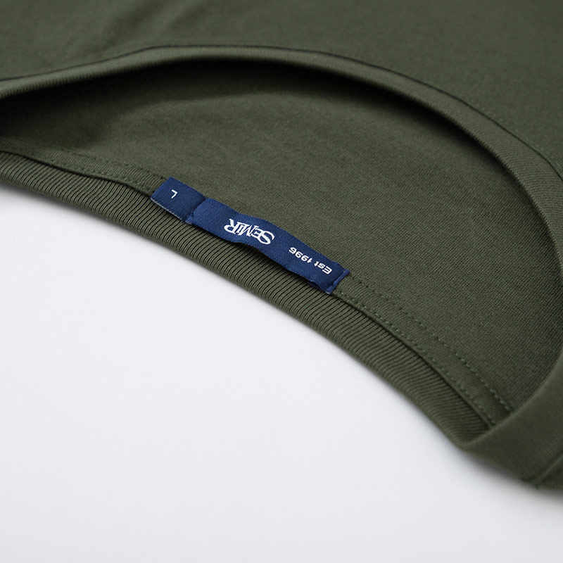 SEMIR koszulka z krótkim rękawem mężczyźni lato trend koreański druku najniższy tshirt męska kamuflaż z krótkim rękawem okrągły dekolt tshirt fala