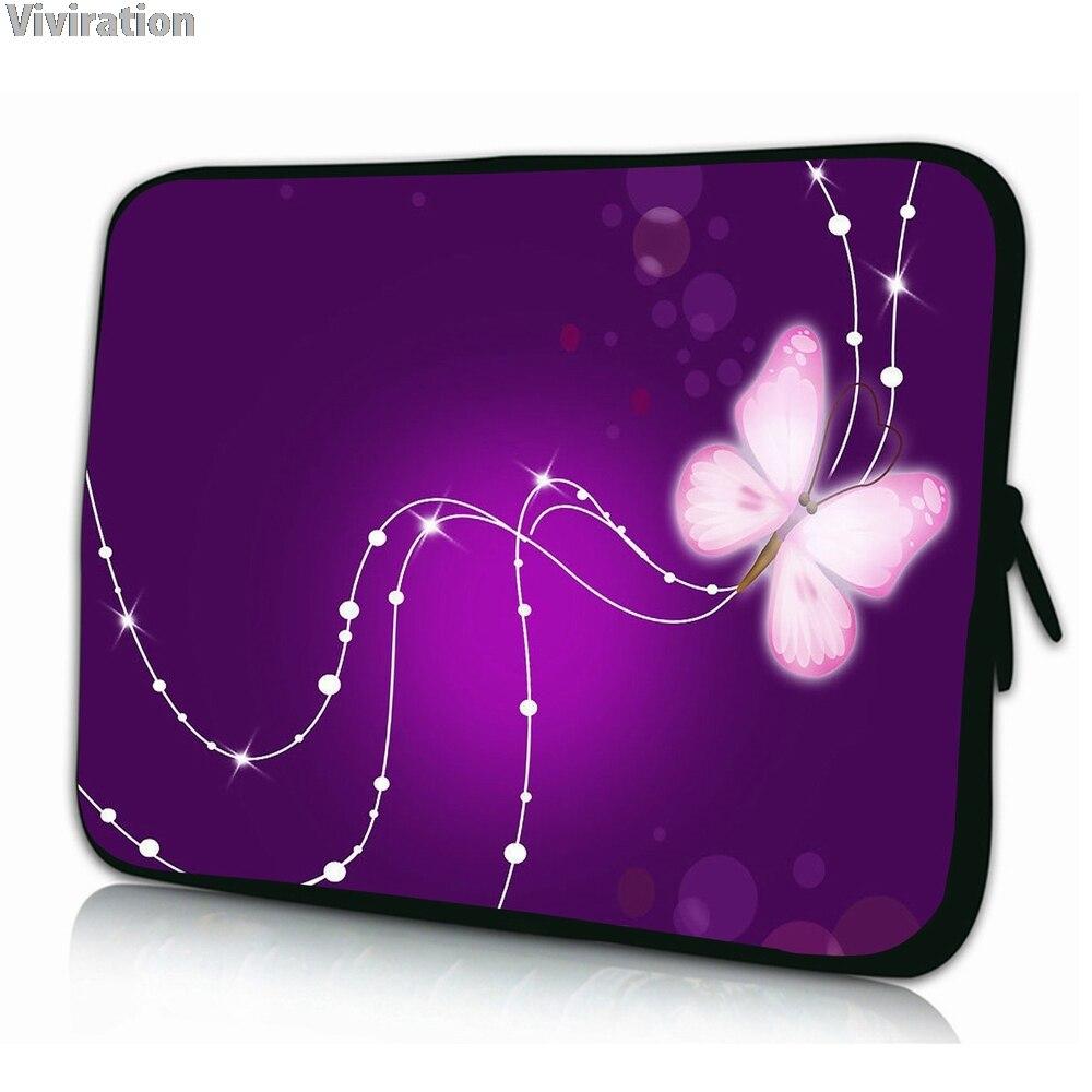 Purple Butterfly Neoprene 10 10.1 Tablet Bag Funda Portatil Bolsas 10 Shockproof Pouch Protector For Lenovo Thinkpad 10.1 Ipad