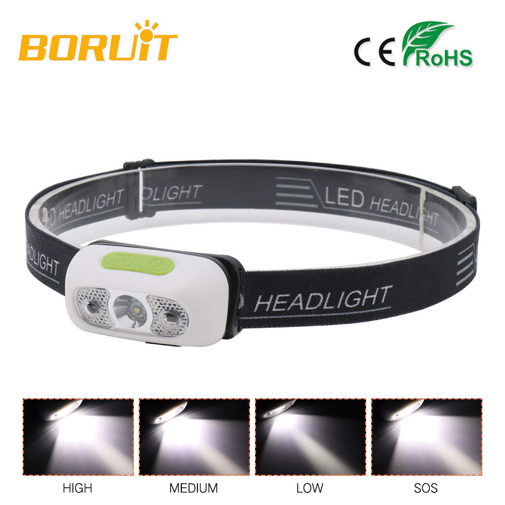 Boruit Mini B6 sensor scheinwerfer Induktion usb aufladbare Scheinwerfer Licht cap leichte Taschenlampe Kopf taschenlampe lampe für lauf