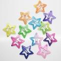 12 Pcs/set star shape hair snap clips 3 cm glitter pentagram metal hair clips cute bling bling hairpins