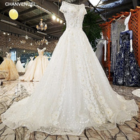 LS0089 sexy wedding wholesale wedding dresses backless short sleeves ball gown lace up wedding dresses from china real photos