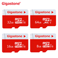 Extreme  Golden Gigastone MicroSDHC class 10 64G 32G 16G 8G Memory Card TF retail packaging Free Shipping AliExpress Shipping