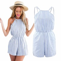 2018 Beach Rompers Summer Sexy Backless Cutaway Ro ...