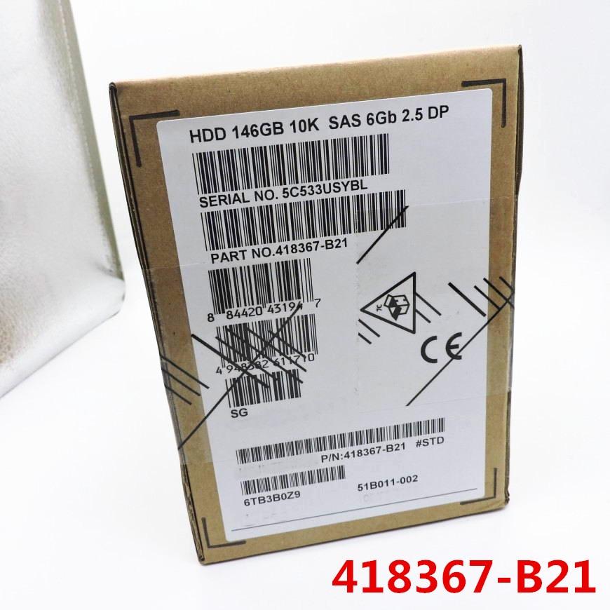 100 New In box 3 year warranty 418367 B21 146G 10K SAS 2 5inch DL580 DL380