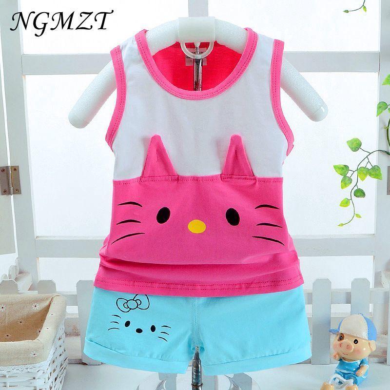 hot sale Baby boy clothes summer kids clothes sets t-shirt+pants suit fox Printed Clothes newborn sport suits