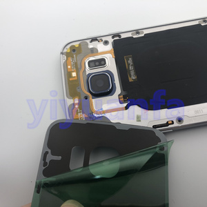 Image 2 - Чехол с полным корпусом, задняя крышка + стеклянный объектив переднего экрана + средняя рамка для Samsung Galaxy S6 Edge G925 G925F, полные детали