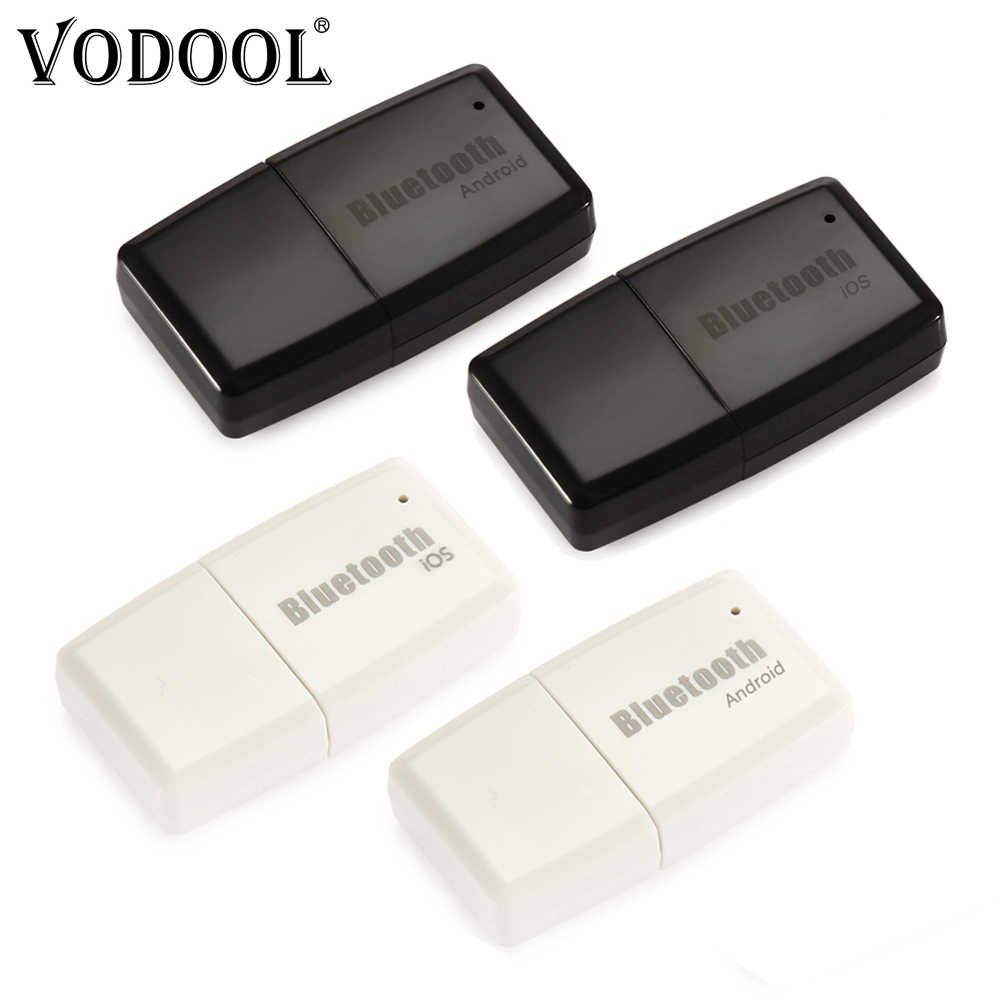 VODOOL Mini Wireless Bluetooth V4.1+EDR Stereo 3.5mm AUX USB Dongle Audio Music Receiver Adapter For Android IOS Phone Laptop PC