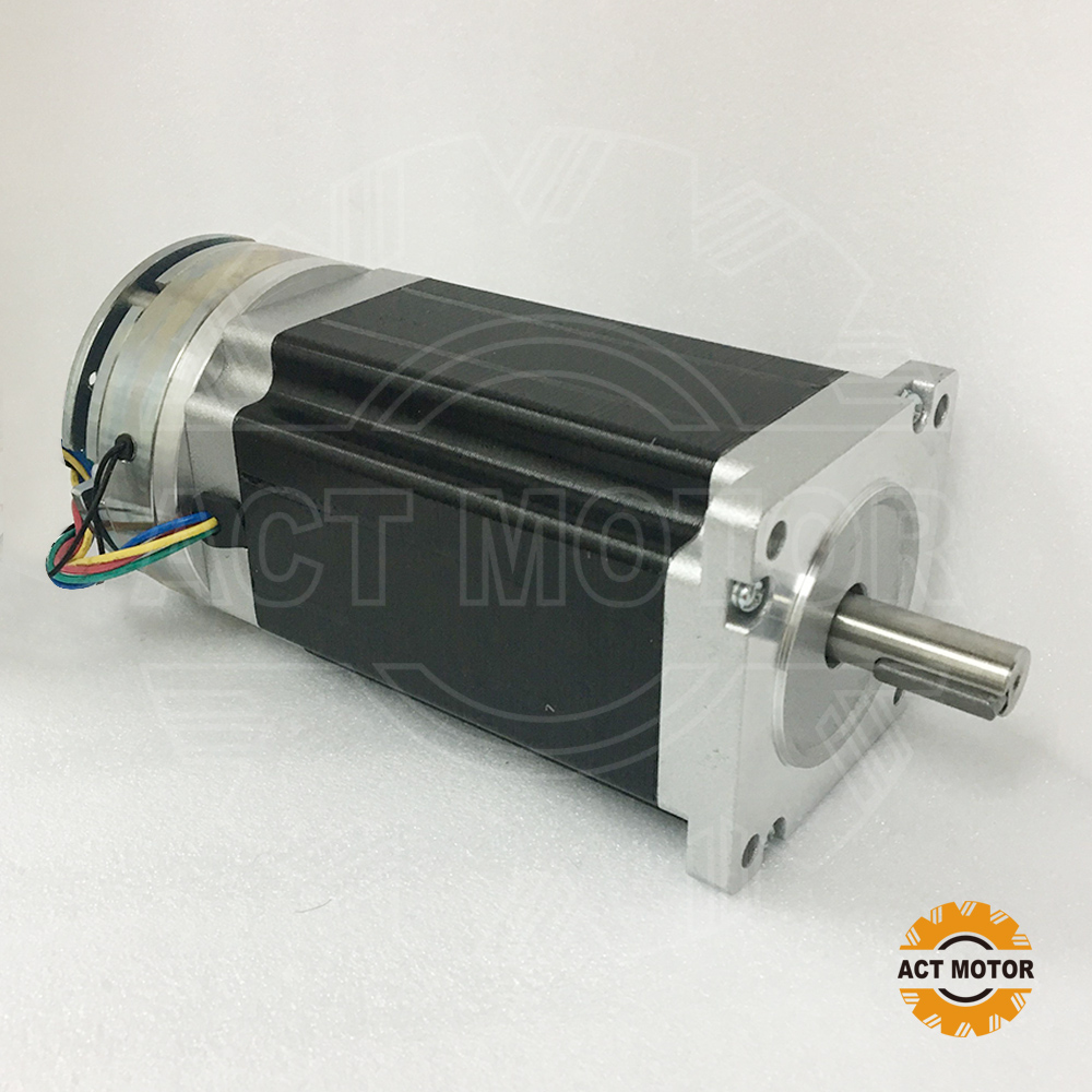 Shipping from China!ACT Motor 1PC Nema34 Brake Motor 34HS5460D14L34J5-S8 1140oz-in 150mm 6A 4-Lead 2Phase Engraving Machine