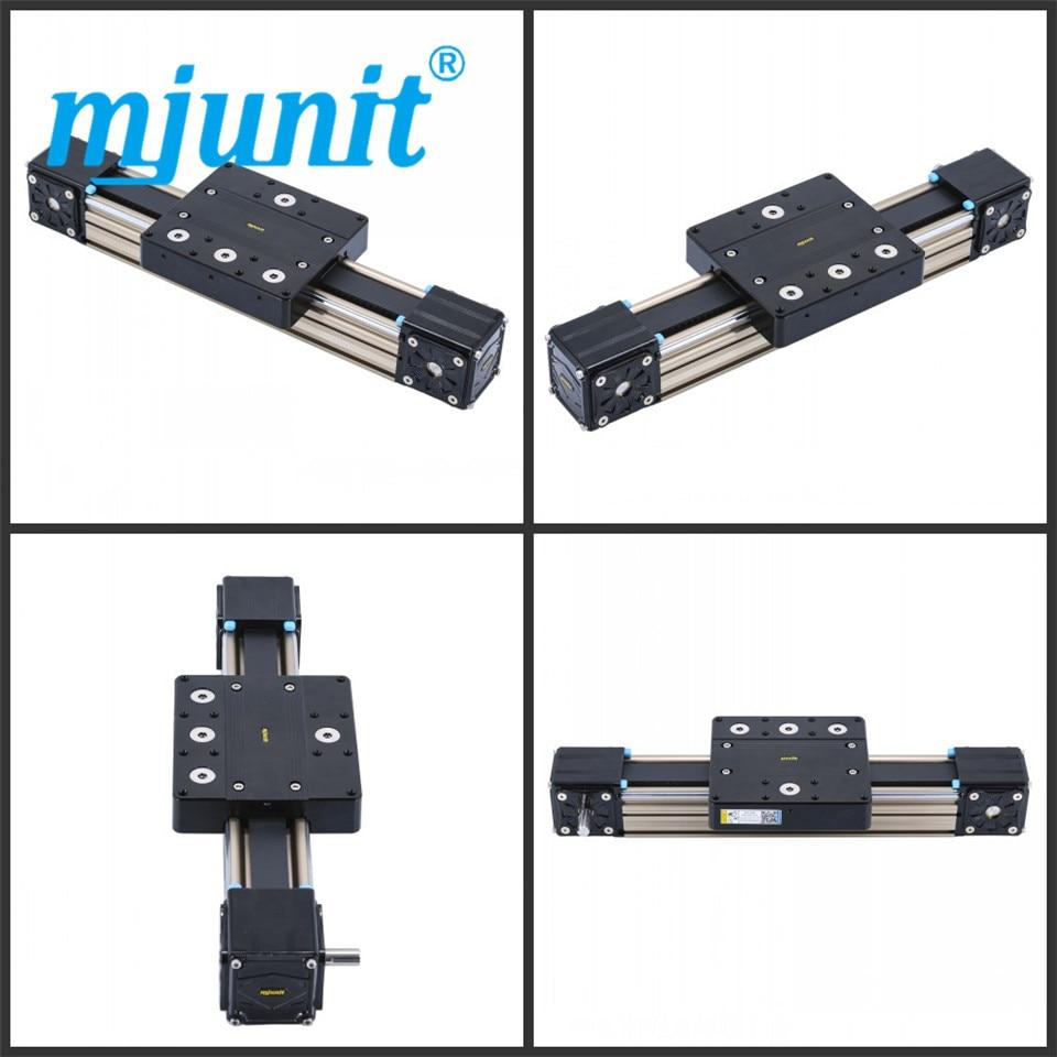 mjunit MJ80 Linear Actuator Belt-Drive Rail Guide with 1500mm stroke length mjunit mj60 mj45 xyz linear actuator belt drive unit linear rail with 600x400x400mm stroke length