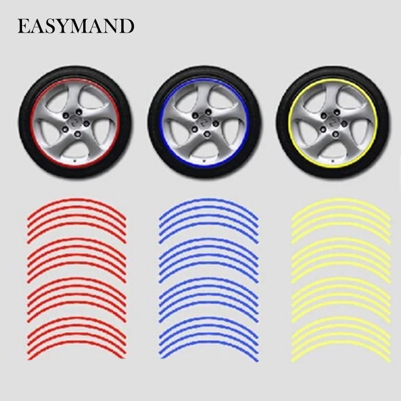 Car-styling Wheel Rim Reflective Sticker For Mitsubishi ASX Outlander Lancer Colt Evolution Pajero Eclipse Grandis FORTIS Zinger