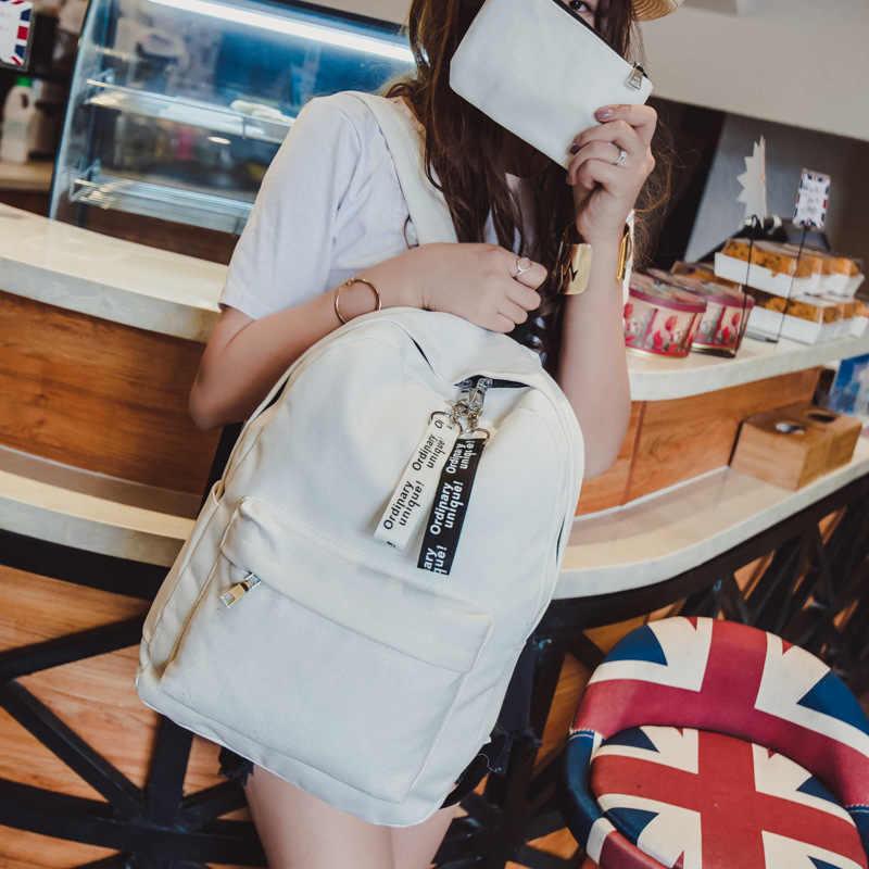Модная версия японских женщин рюкзак удобный холщовый материал женский рюкзак, Mochila Рюкзак Пакет дизайн