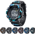 Kids Boys' Cool Multi-functional Alarm Timer Night Light Digital Wrist Watch