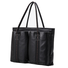 Brand luxury font b men b font leather top handle font b bags b font fashion