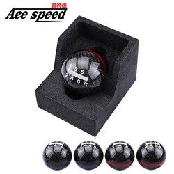 Ручка переключения передач для Honda EK9 EP3 FN2 DC2 DC5 S2000 FD2, Черная/красная линия, 5/6 скоростей, M10X1.5, Для Mugen, углеродное волокно