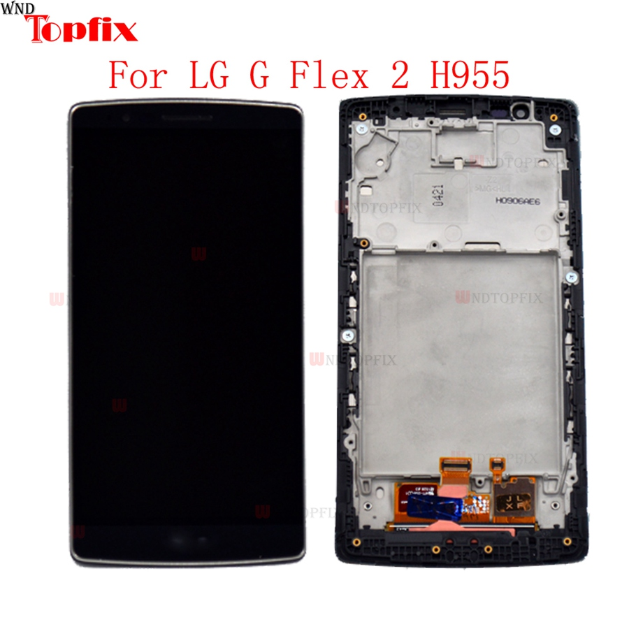 In Stock 100 Tested LCD Display Touch Screen Digitizer Assembly For LG G Flex 2 H955