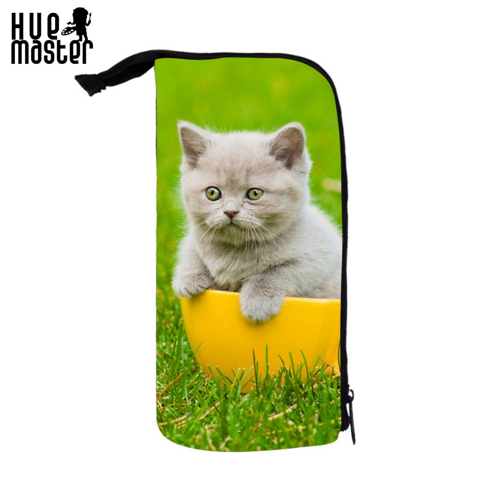 HUE MASTER Mini Cat Cute Pet Lovely pattern to cosmetic bag