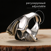 Silver Cool Soldier Skull Ring For Men