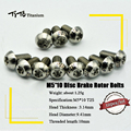 TiTo 12pcs Titanium Disc Brake Bolts Bicycle Brake Screw Upgrade Kit Button Head for M5x10mm Torx T25