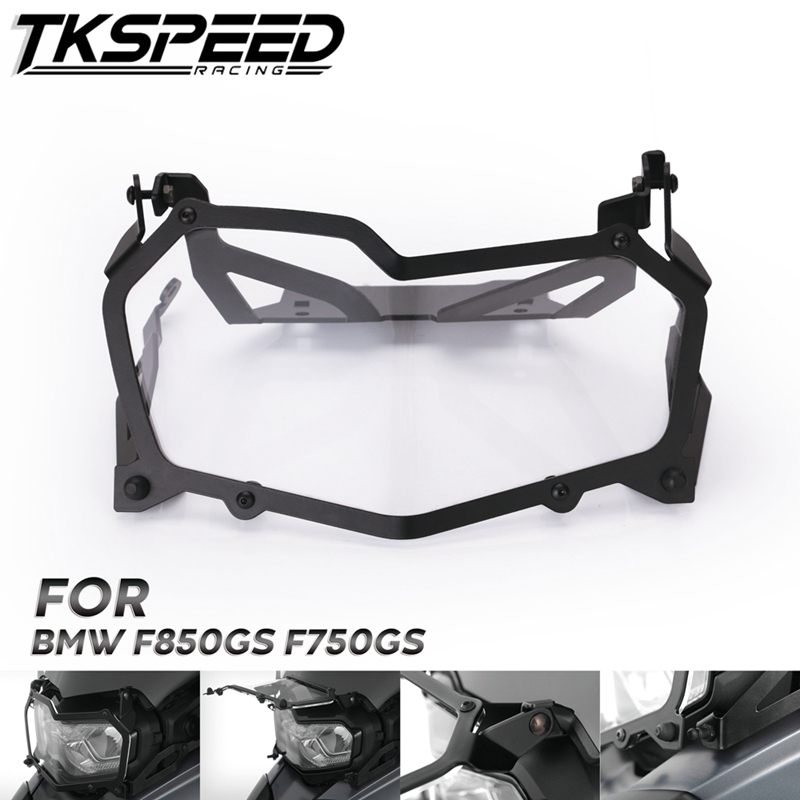 Black Motorcycle Headlight Protection Net Headlight Protection Quick Release Headlight Cover For BMW F850GS F750GS-in Covers & Ornamental Mouldings from Automobiles & Motorcycles