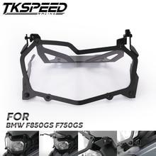 Cubierta negra del faro de la motocicleta de la protección de la linterna del faro de liberación rápida para BMW F850GS F750GS