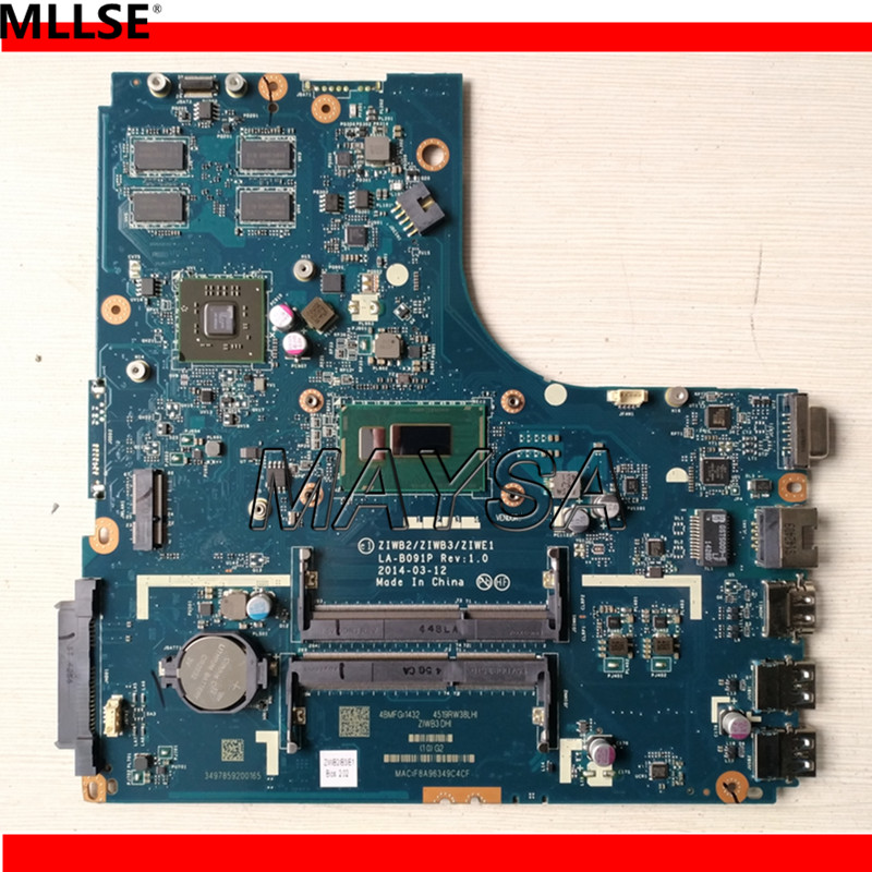LA-B091P B50-70 Laptop motherbaord For Lenovo B50-70 NOTEBOOK PC mainboard with I3-4005U 2GB video card